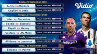 Jadwal Liga Italia pekan kedua yang bisa disaksikan di platform Vidio. (Sumber: Vidio)