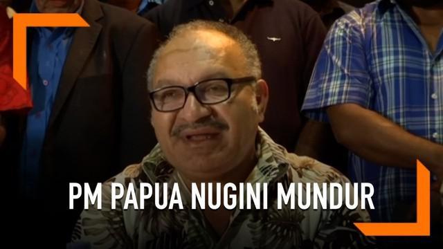 Perdana Menteri Papua Nugini Peter O'Neill mengundurkan diri. Ia mengundurkan diri setelah terjadi pembelotan sejumlah tokoh di negaranya.