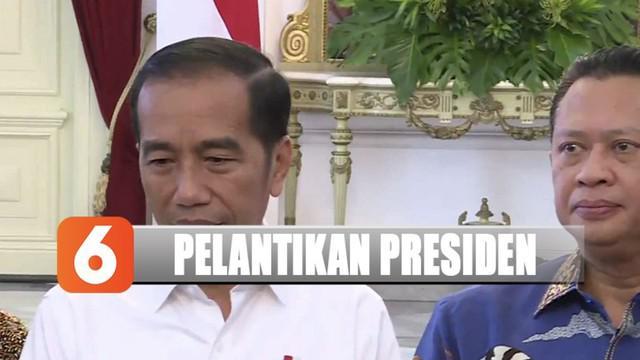 Ketua MPR Bambang Soesatyo memberikan undangan pelantikan untuk Jokowi dan Ma'ruf Amin.