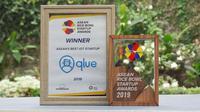 Qlue Raih Penghargaan Best IoT Startup di ASEAN Rice Bowl Startup Awards 2019.  Kredit: Qlue