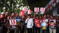 cagub sulsel, ichsan yasin limpo temui tim pemenangan jelang debat kedua pilkada (Liputan6.com/ Eka Hakim)