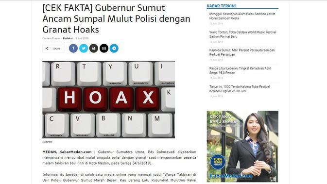 [Cek Fakta] Viral Gubernur Sumatera Utara Edy Rahmayadi marah-marah pada polisi.
