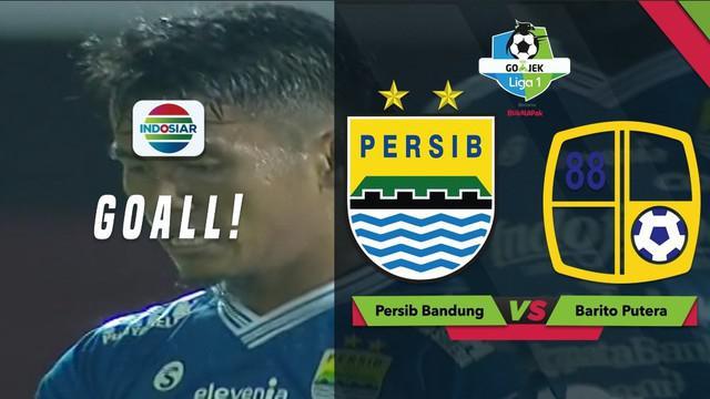 Ghozali Siregar langsung membalas gol yang dicetak oleh Rizki Pora saat Persib Bandung menghadapi Barito Putera dalam lanjutan Gojek Liga 1 2018 bersama Bukalapak, Sabtu (8/12/2018).