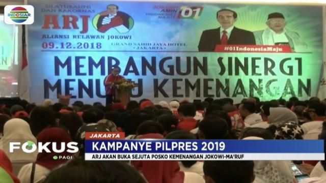 Perwakilan Aliansi Relawan Jokowi (ARJ) gelar rakornas pemenangan untuk Jokowi-Ma'ruf Amin.