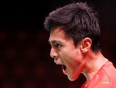 Foto: Shesar Hiren Jadi Pahlawan, Indonesia Tumbangkan Thailand di Piala Thomas