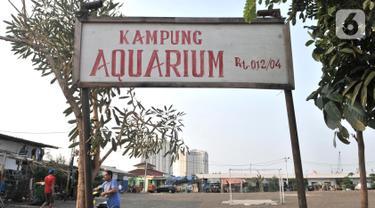 Aktivitas warga di rumah penampungan sementara Kampung Akuarium, Penjaringan, Jakarta, Senin (14/10/2019). Sudah 1,5 tahun warga Kampung Akuarium menghuni rumah semipermanen, sebelumnya mereka tinggal di tenda pengungsian akibat penggusuran pada April 2016 lalu. (merdeka.com/Iqbal Nugroho)