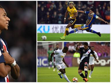 Kecepatan lari menjadi salah satu indikator penting pada permainan di FIFA 20 yang bisa menuntukan kualitas permainan. Berikut ini tujuh pesepak bola dengan lari tercepat versi FIFA 20. (Kolase Foto dari AFP)