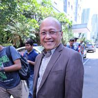 Mario Teguh di Polda (Adrian Putra/bintang.com)