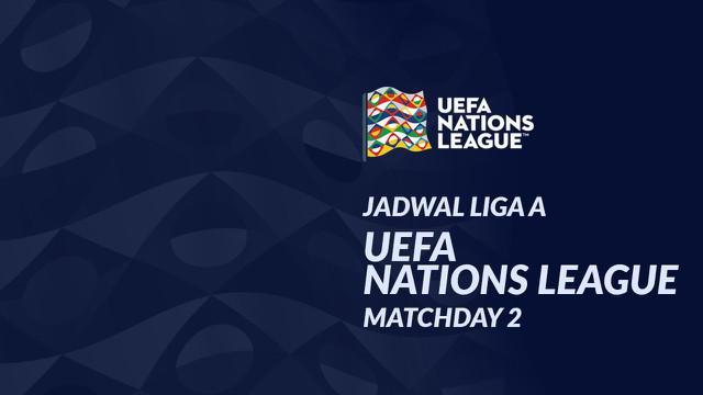Berita motion grafis jadwal UEFA Nations League Liga A matchday 2, Belanda ditantang Italia.