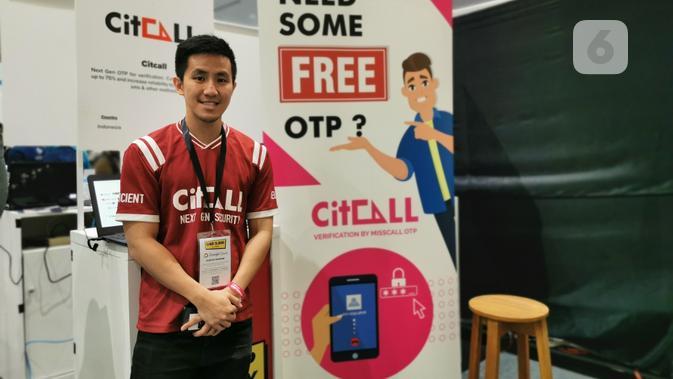 Joel Kereh, pendiri startup lokal CitCall. Liputan6.com/Mochamad Wahyu Hidayat