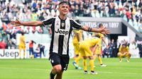 Striker Juventus asal Argentina, Paulo Dybala. (AFP/Giuseppe Cacace)