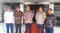Kemenkumham mendatangi Polres Metro Tangerang, Selasa (16/7/2019). (Liputan6.com/ Pramita Tristiawati)