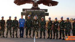 Citizen6, Lebanon: Kedatangan Perwira Menengah yang berasal dari Kontingen Serbia tersebut didampingi oleh dua personel stafnya, Mayor Pnb Akal Juang E. dan Mr. Edward. (Pengirim: Badarudin Bakri)