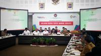 Rapat koordinasi membahas penanganan gempa di Lombok. Foto: Dok Merdeka.com/Wilfridus Setu Umbu