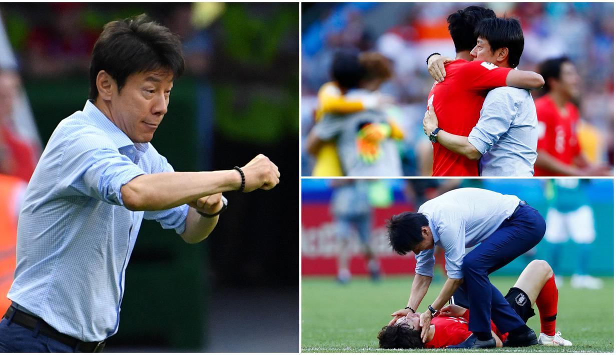 Berikut ini gaya Shin Tae-yong saat melatih Korea Selatan di Piala Dunia 2018.