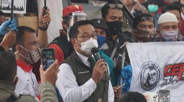 Temui Buruh Tolak Omnibus Law di Gedung Sate, Ridwan Kamil Siap Surati Presiden dan DPR