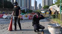 Situasi demo Hong Kong terbaru pada 21 September 2019 (AFP PHOTO)