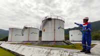 Wahyu Hidayat, pegaawai Pertamina di Terminal Bahan Bakar Minyak (TBBM) Tahuna, Kepulauan Sangihe, Sulawesi Utara.