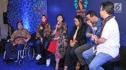 Deputi Tumbuh Kembang Anak KPPPA Lenny N Rosalin (Ketiga Kiri) menjadi pembicara dalam acara Malam Penganugerahan Piala Media Ramah Anak (Merak) 2018, berlangsung di Jakarta, Jumat (7/12). Liputan6.com/Pool/Humas KPPPA)