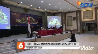Sedikitnya ada 94 dokter di Jawa Timur yang terpapar Covid-19, dan kini tengah menjalani perawatan di sejumlah rumah sakit. Ikatan Dokter Indonesia, Jawa Timur, mengaku kesulitan merinci jumlah dokter yang bertugas di Surabaya, karena jumlahnya banya...