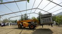 Proses pembangunan tenda jemaah haji di Arafah. Bahauddin/MCH