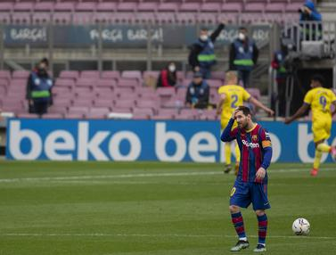 FOTO: Kebobolan Penalti di Menit Akhir, Barcelona Diimbangi Cadiz