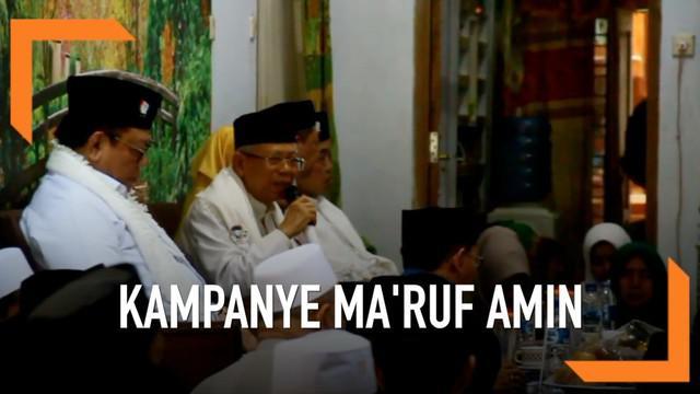 Cawapres Jokowi berkunjung ke sejumlah Pondok Pesantren di wilayah Cirebon. Selain silaturahmi Ma'ruf Amin juga meminta restu kepada sejumlah ulama di Cirebon