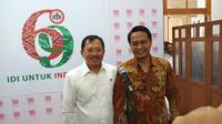 Menkes Terawan dan Ketua IDI dr Daeng di Kantor IDI Pusat Jakarta (Foto: Fitri Haryanti/Liputan6.com)