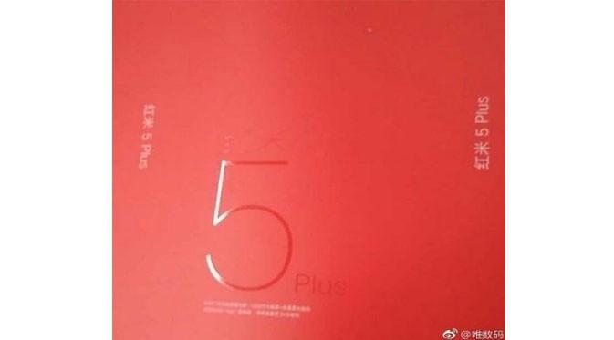 Tampilan boks Xiaomi Redmi 5 Plus (Foto: GSM Arena)