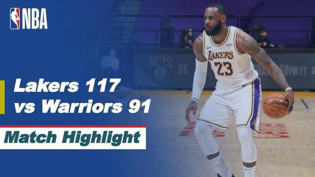 Berita Video Highlights NBA, LA Lakers Menang atas Golden State Warriors 117-91 (1/3/2021)