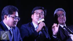 E Ambassador, Sun Jong In, The Mission of the Republic of Korea to ASEAN (tengah) saat jumpa pres Korea ASEAN Cinema Weekend 2016, Jakarta, Jumat (14/10). Festival film ini akan memutar 11 film dari berbagai negara di ASEAN.(Liputan6.com/Herman Zakharia)