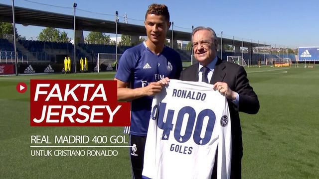 Berita video 3 tahun lalu, 3 Mei 2017, terdapat fakta menarik soal jersey Real Madrid bernomor punggung spesial 400 gol untuk Cristiano Ronaldo.