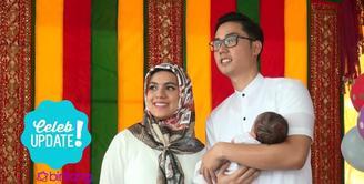 Nytca Gina dan Rizky Kinos Gelar Syukuran Anak di Masjid dekat rumah.