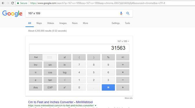 Fitur kalkulator di Google Chrome. Liputan6.com/ Yuslianson