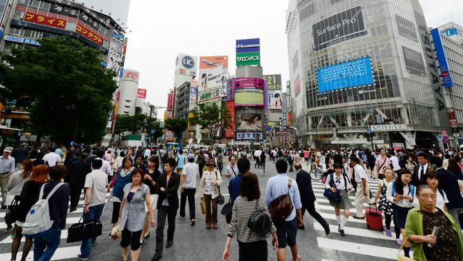 Ilustrasi masyarakat Jepang. (AFP)