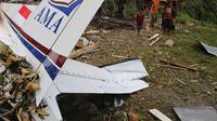 Sebanyak enam orang terluka dalam insiden pesawat jatuh di Yahukimo itu. (Liputan6.com/Katharina Janur)