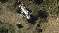 Kecelakaan mobil pemain golf Tiger Woods. Dok: KABC-TV via AP