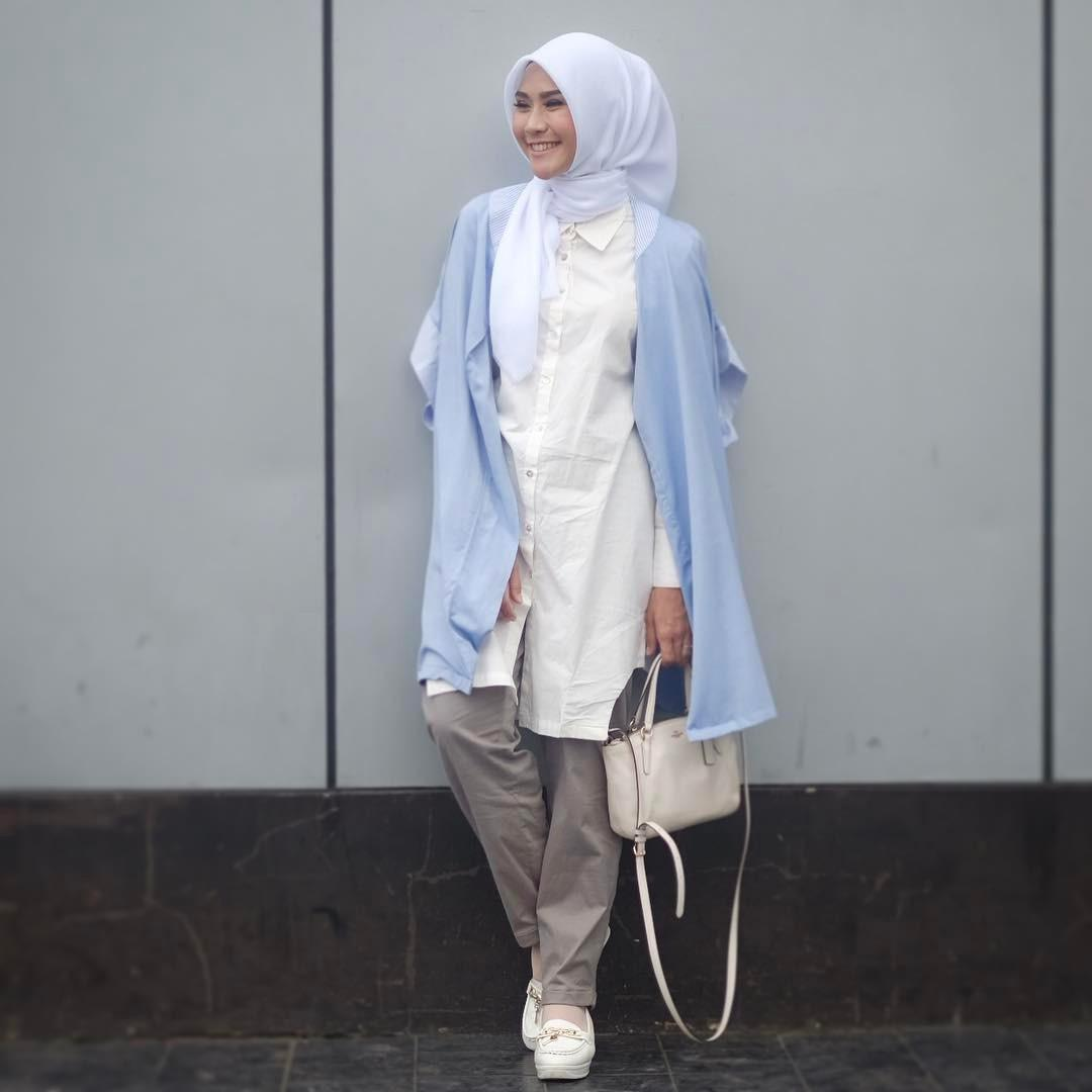 Hijab earth tone ala Zaskia Adya Mecca. (sumber foto: @zaskiadyamecca/instagram)