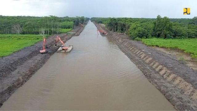 Kementerian PUPRtengah melakukan rehabilitasi dan peningkatan jaringan irigasi di kawasan food estate di Kalimantan Tengah (Kalteng).