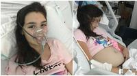 Cherish-Rose Lavelle, gadis 11 tahun membuat bingung para dokter karena mulanya dianggap hamil. ternyata ada tumor dalam ovariumnya. Source: Meaww