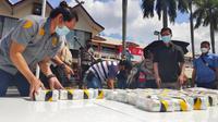 Tangkapan narkoba berupa sabu oleh Polda Riau beberapa waktu lalu. (Liputan6.com/M Syukur)
