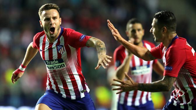 Saul Niguez mencetak gol pada babak tambahan. (doc. UEFA)