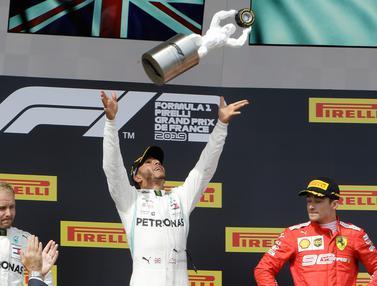 Selebrasi Lewis Hamilton Saat Juara F1 GP Prancis 2019