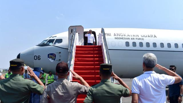 Presiden Jokowi bertolak ke Palu