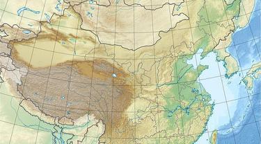 Wilayah terdampak gempa hebat di Shaanxi dan Shanxi, Tiongkok