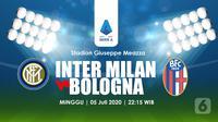 INTER MILAN VS BOLOGNA (Liputan6.com/Abdillah)