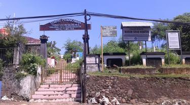 Salah satu pemakaman Muslim yang berada di Kecamatan Wenang, Kota Manado, Sulut.