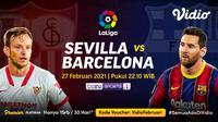 Duel Sevilla vs Barcelona, Sabtu (27/2/2021) pukul 22.10 WIB dapat disaksikan melalui platform streaming Vidio. (Dok. Vidio)