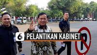 Para calon menteri kabinet Jokowi-Ma'ruf mulai berdatangan ke Istana Kepresidenan. Sebelum dilantik para menteri datang kompak berbatik.