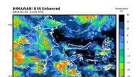 Kondisi Cuaca Prakiraan BMKG Wilayah IV Makassar di beberapa daerah di Sulsel (Liputan6.com/ Eka Hakim)